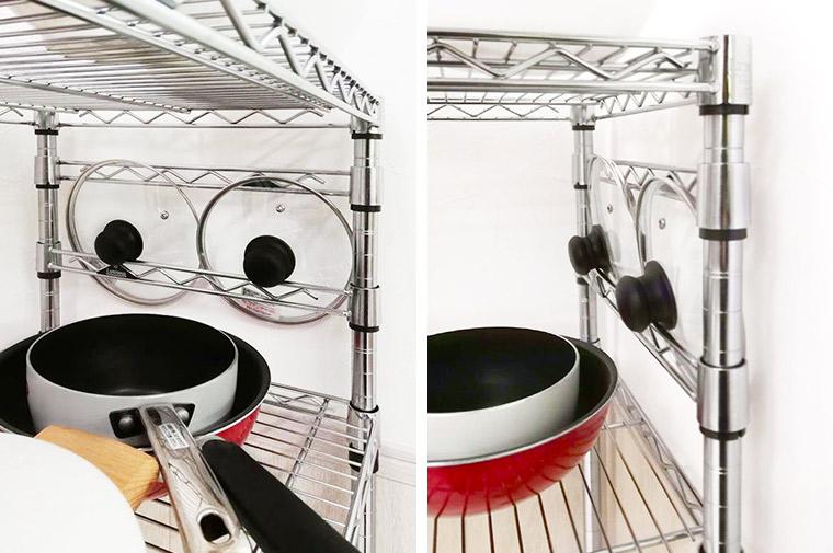 パーツアイディア活用!お鍋の蓋収納