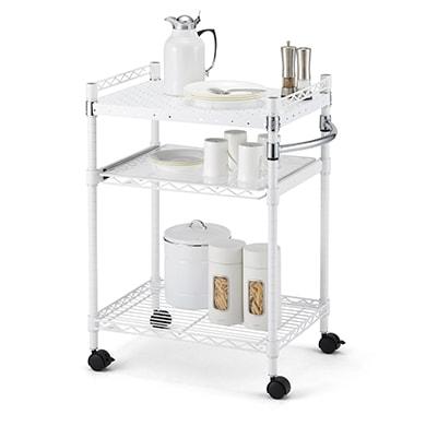 ホームエレクターレディメイドシリーズのパンチングシェルフはキッチンシチュエーションにもおすすめです。