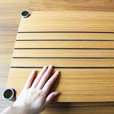 ホームエレクターレディメイドシリーズのブランチシェルフは手作業のオイルステン塗装だから、手触りも見た目も◎