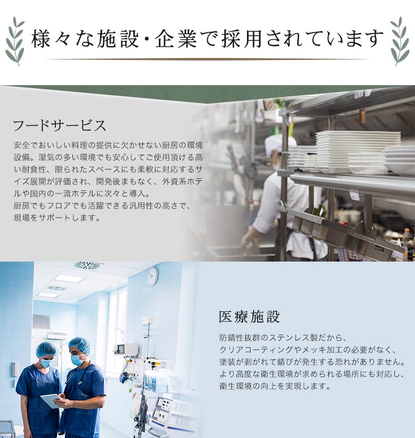様々な施設・企業で採用されています フードサービス 医療施設