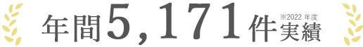 年間5,171件の実績(2019年度)